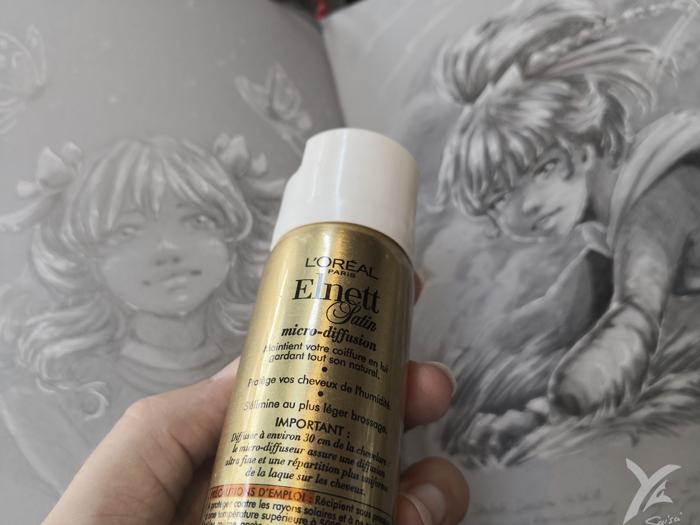 fixatif pour dessin traditionnel : laque pour cheveux