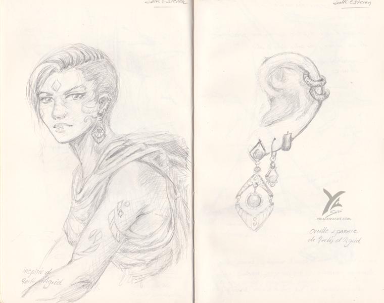 dessins inspirées du jeu de rôle Les Ombres d'Esteren