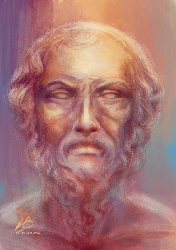 portrait d'homme d'âge mur - inspiration anglaise et grecque homérique