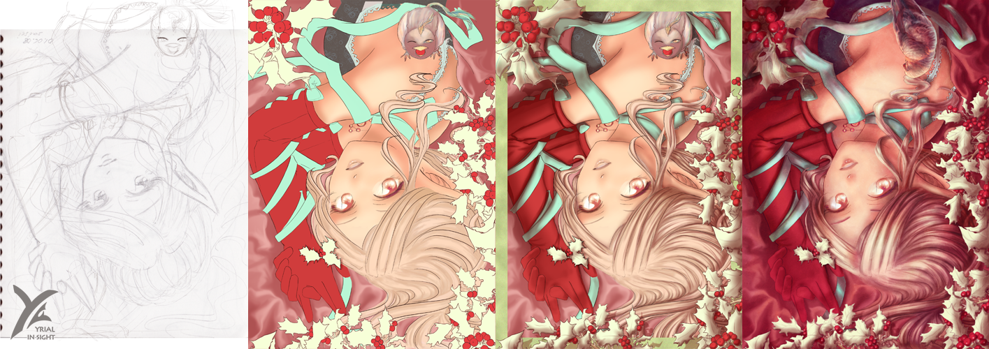 """""""Holly and Satin"""" : process"""