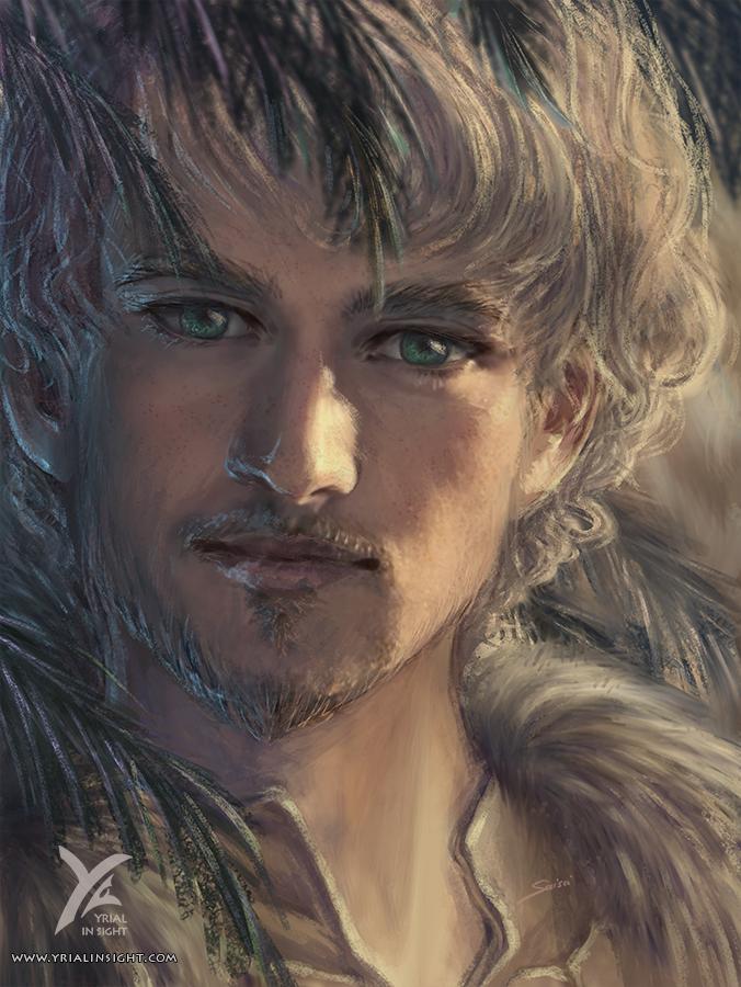 Illustration de style réaliste, portrait de Pépin, un personnage du roman Le Choix du Roi