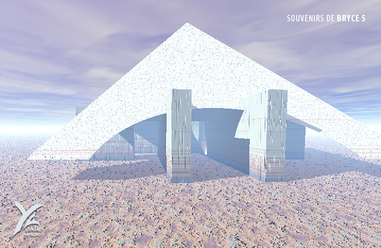 Autre exercice d'objets booléens sur une pyramide avec ici un agrandissement raté !