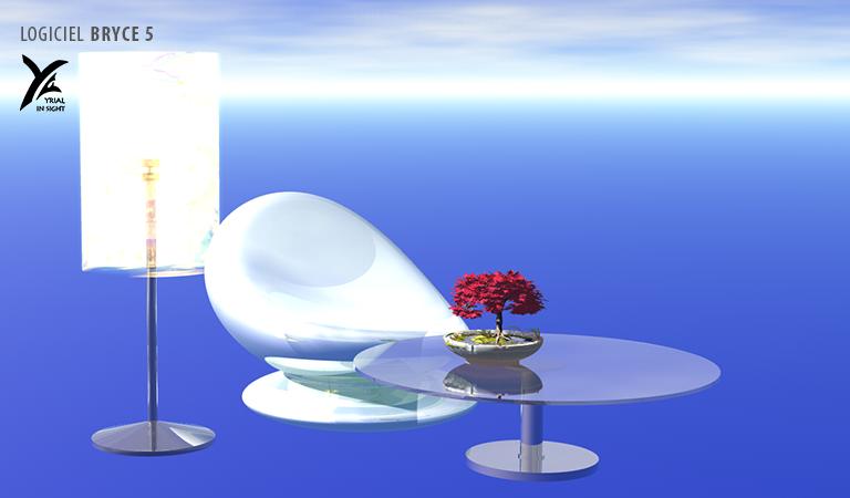 mobilier - création d'objet 3D avec Bryce 5
