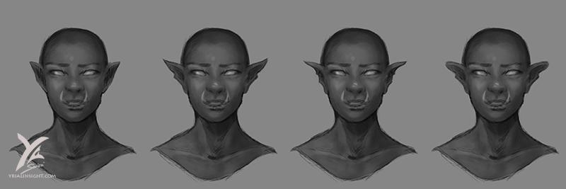 étude d'oreille d'elfes - cette fois-ci mise en valeurs