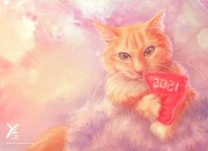 Peinture numérique pour chat domestique   Yrial in Sight   Saisei